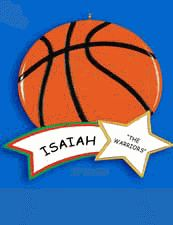 Basketball Personalized Ornament