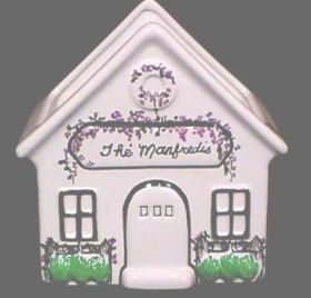 House Ceramic Handpainted 239