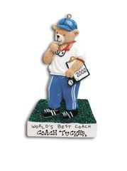 Coach Bear Personalized Ornament