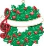 Musical Wreath Personalized Ornament