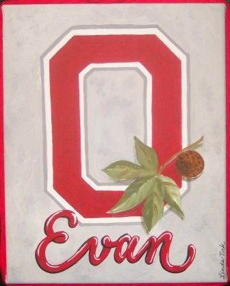 "OSU PAINTING BY TIRK-11""X14""-PERSONALIZED ORIGINAL"