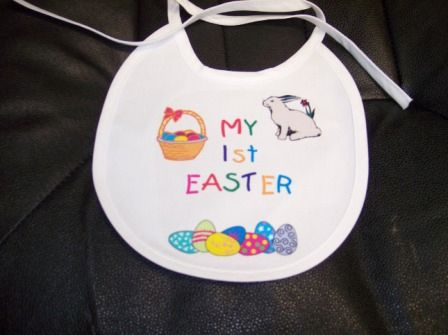 Imprinted First Easter Bib