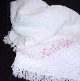 Personalized Embroidered Baby Afghan