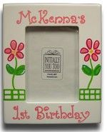 FIRST BIRTHDAY 5X7 WOODEN FRAME-PERSONALIZED