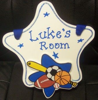 Personalized Sports Star Room Sign