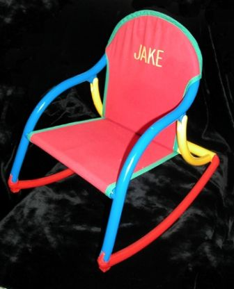 Rocker- Primary Canvas- Embroidered
