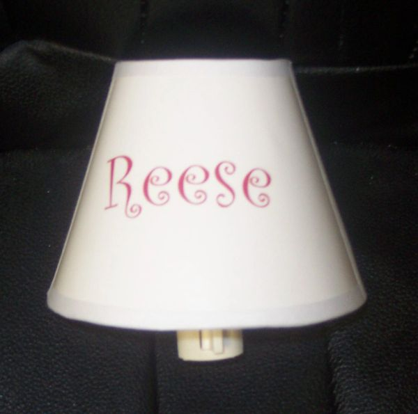 NIGHT LIGHT SHADE - PERSONALIZED WITH NAME OR INITIALS
