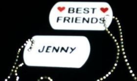 PERSONALIZED BEST FRIEND DOG TAGS-SET OF 2