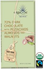 Nirvana Organic Pistachios, Almonds & Walnuts 72% Dark Chocolate