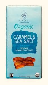 Nirvana Organic Sea Salt and Caramel 72% Dark Chocolate