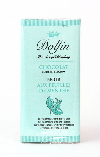Dolfin 52% Dark Chocolate with Mint Leaves