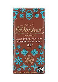 Divine Milk Chocolate With Toffee And Sea Salt