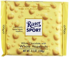 Ritter Sport Bar White Chocolate With Whole Hazelnuts