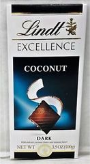 Lindt Excellence Dark Chocolate Coconut