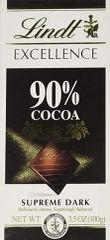 Lindt Excellence 90% Supreme Dark Chocolate
