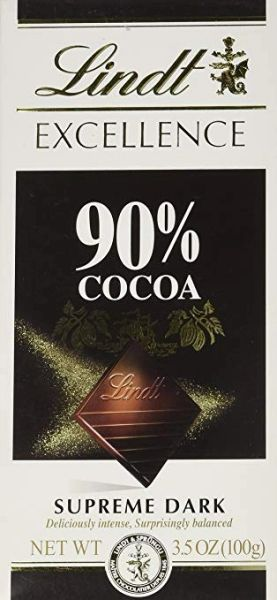Lindt Excellence 90% Supreme Dark Chocolate