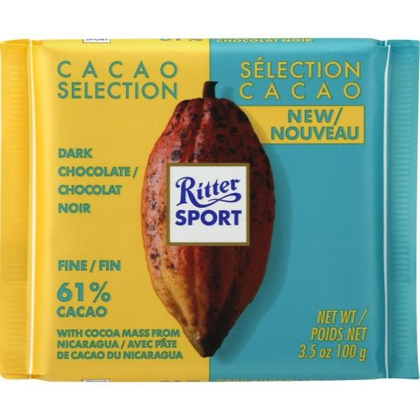 Ritter Sport Dark Chocolate Fine 61% Cacao