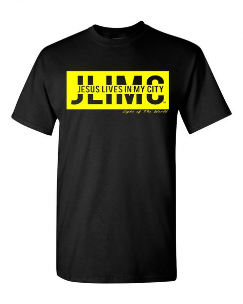 JLIMC- JESUS LIVES IN MY CITY SHORT SLEEVE TEE -BLOCK EDITION-YELLOW PRINT