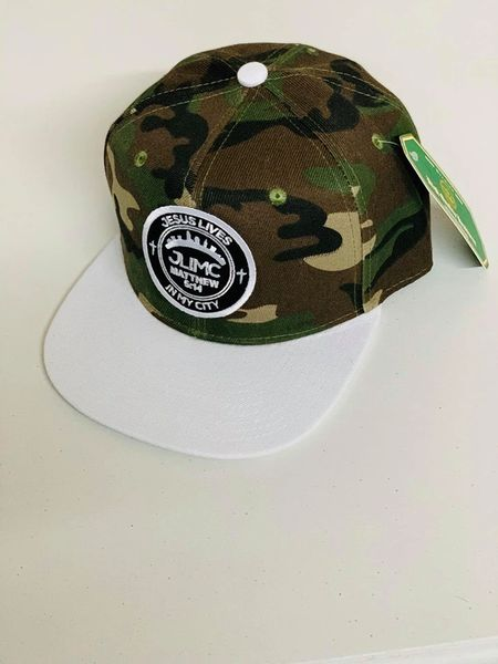 JLIMC - Jesus Lives In My City Camo w White Snap Back Round Cap Hat