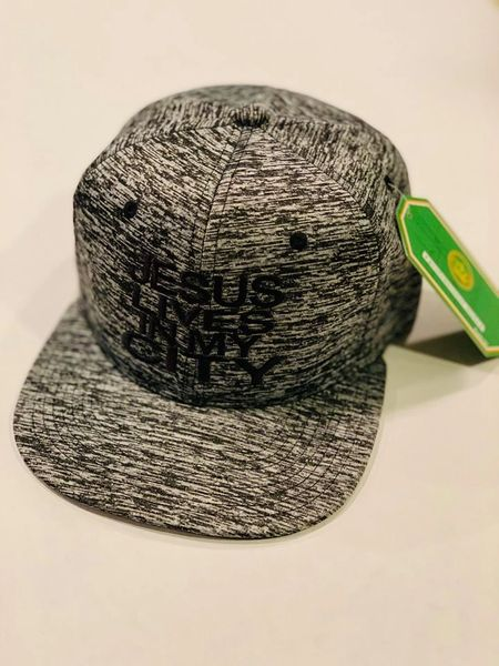 Jlimc - Jesus Lives In My City Gray Tiger Stripe Snap Back hat cap Embroidered