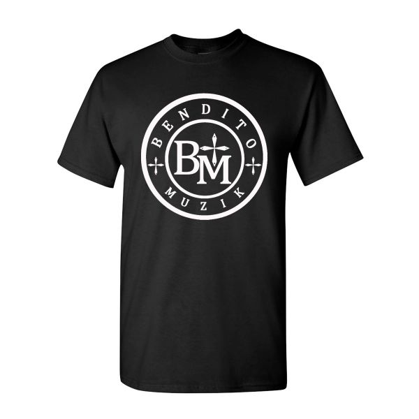 BMT - BENDITO MUZIK SHORT SLEEVE T SHIRT BLACK WITH WHITE LOGO CHRISTIAN T SHIRT
