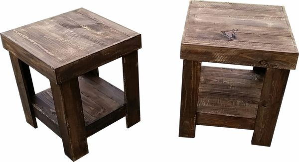 Texas Pallet Wood Nightstands