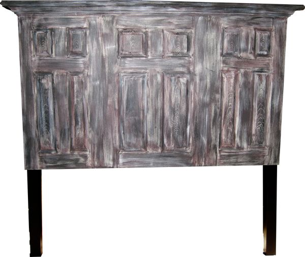 3 Door Twelve Panel Headboard With Legs