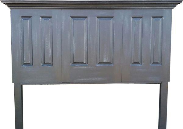 3 Door Six Panel Headboard With Legs Vintage Headboards