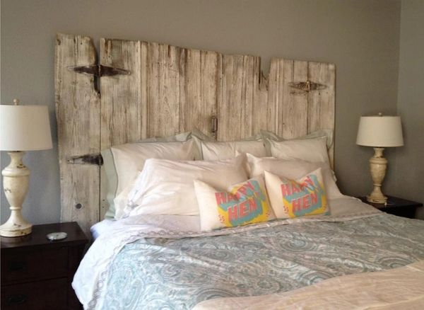 Vintage Barn Wood Headboard Without Legs