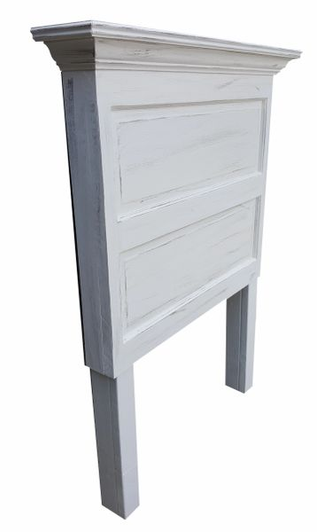 Twin Size Door Headboard - Antique White + Faux Finishing