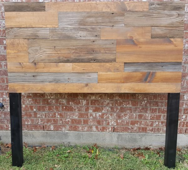 Queen Size Authentic Barn Wood and Plank Wood Headboard