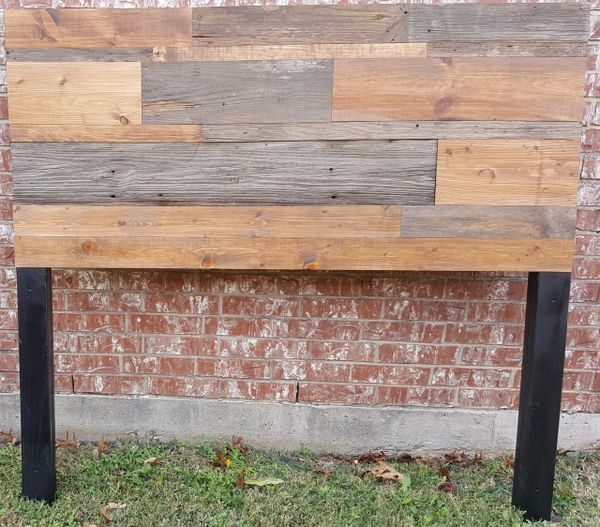 Queen Size Authentic Barn Wood and Plank Wood Headboard 2