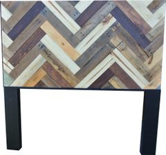 Herringbone and Chevron Pattered Headboards