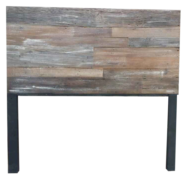 Authentic Vintage Barn Wood Headboard With Legs