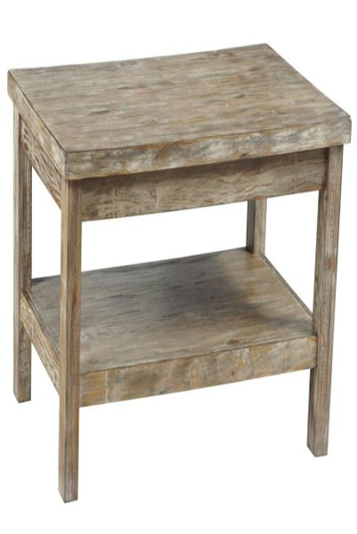 Distressed and aged looking end table.