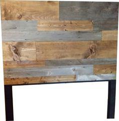 Authentic Barn Wood and Plank Wood Headboard