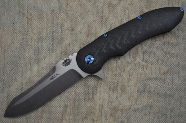 "Jerry Moen ""Blue Max 1"" Carbon Fiber Flipper (SOLD)"