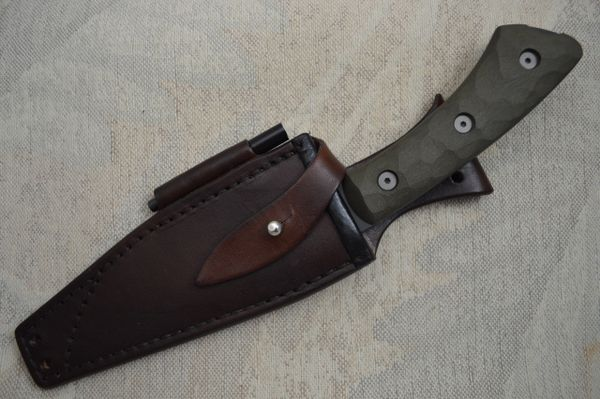 "E. Scott McGhee J.S. ""Rover"" Tactical Fixed Blade, Leather Sheath (SOLD)"