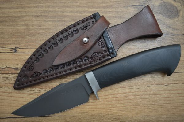 "E. Scott McGhee J.S. ""EZ RIDER"" Tactical Fixed Blade, Leather Sheath (SOLD)"