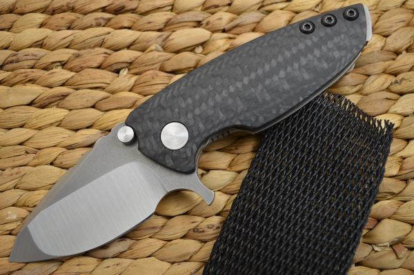 Direware HYPER-90 Flipper, M390 Blade, Titanium Frame Carbon Fiber Inlays (SOLD)