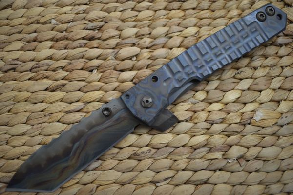 Crusader Forge FIFP EX Tanto, Full Titanium Frame-Lock Flipper, 1 of 1 (SOLD)