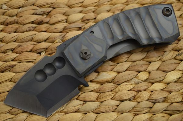 "Crusader Forge APEX Frame-Lock Chisel Ground Blade, ""One Of One"", Phantom Finish (SOLD)"
