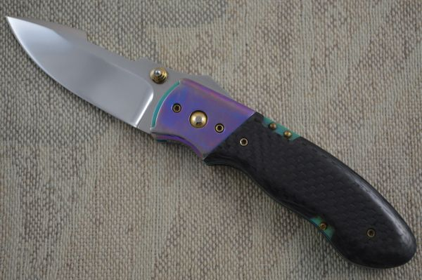 Alan Folts First Ultra Modern Folder, Talonite Blade, One Of A Kind! (SOLD)
