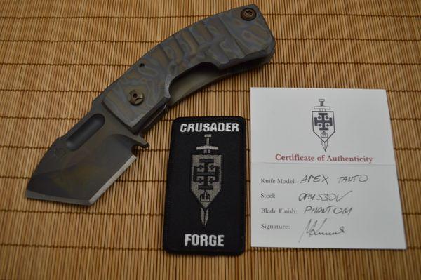 "Crusader Forge ""APEX"" Tanto, Frame-Lock, Phantom Finish (SOLD)"