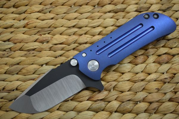Direware M8 Flipper, Titanium Frame Tumbled Blue, Black Ceramic Flats (SOLD)