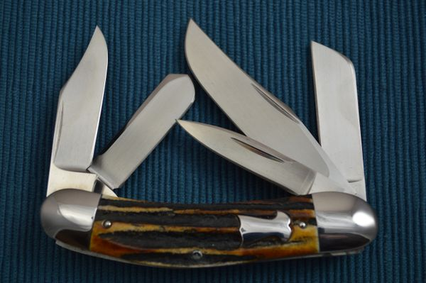 Bill Ruple Stag 5-Blade Sowbelly (SOLD)