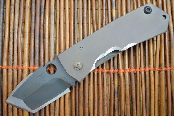 """Crusader Forge VIS T """"MONOLITH"""" Kiridashi Grind, Tactical Frame-Lock Folding Knife (SOLD)"""