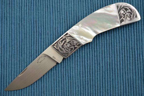 Jack Busfield Pearl Lock-Back Folder, Steve Lindsay Engraving