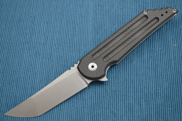 Jake Hoback Carbon Fiber Kwaiback UHEP Frame-Lock Flipper, CF Inlay (SOLD)