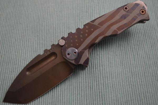 Medford Knife and Tool Micro Praetorian T, Custom American Flag Artwork (SOLD)